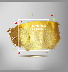spring sale off sign vector image