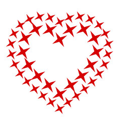 star heart icon simple style vector image