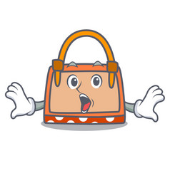 surprised hand bag mascot cartoon vector image