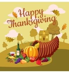Thanksgiving day concept cartoon style vector