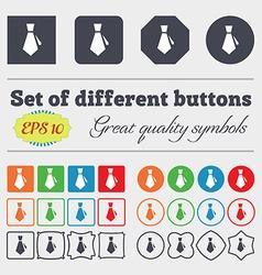 tie icon sign Big set of colorful diverse vector image