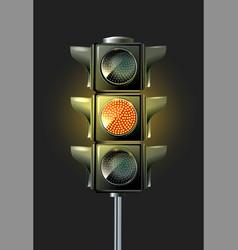 traffic lamp design vector image