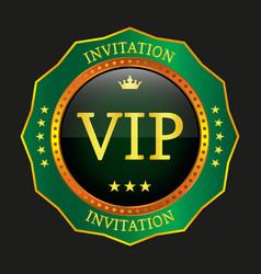 vip label vector image