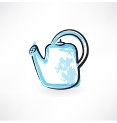 Watering can grunge icon vector
