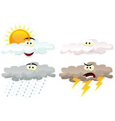 weather icons characters vector image