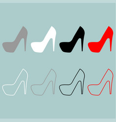Womans shoes icon vector