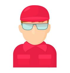 Worker icon cartoon style vector