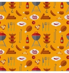 Barbecue grill seamless pattern in flat style vector image vector image