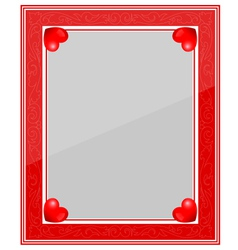 Designer Red Photo Frame vector image