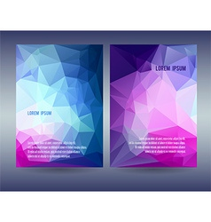 Low polygonal triangular blue vector image vector image