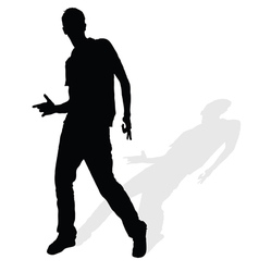 man silhouette posing vector image