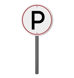 parking traffic sign icon vector image