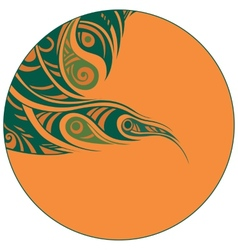 abstraction in a circle vector image vector image