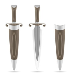 battle dagger 03 vector image vector image
