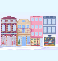 city architecture facades different vector image vector image