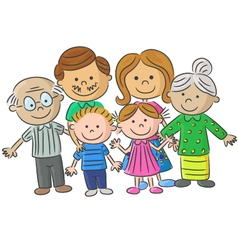 Complete family care of parents with vector
