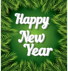 Happy New Year card with white text vector image vector image