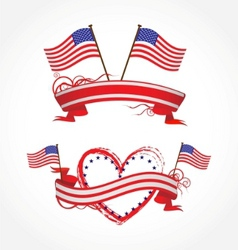 ribbons for july 4th vector image vector image