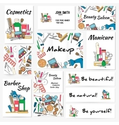 Set of banners posters and business card with vector image vector image