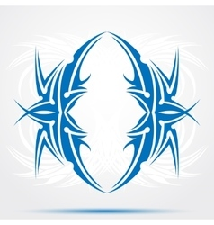 Blue celtic tattoo Tribal for tattoo saloons vector image