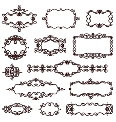 borders and monograms in vintage style vector image vector image