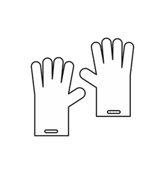 Gloves for cleaning icon outline style vector