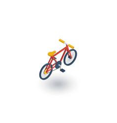 bicycle bike isometric flat icon 3d vector image vector image