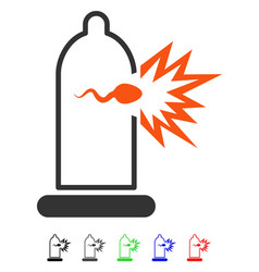 condom sperm escape flat icon vector image vector image