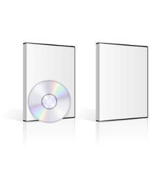 Dvd case and disk on white background vector