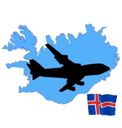 fly me to the Iceland vector image