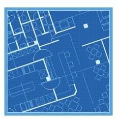 House plan blueprint vector image