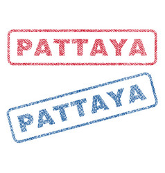 pattaya textile stamps vector image