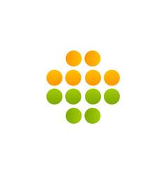 abstract circle clinic logo medical symbol vector image