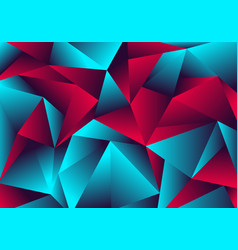 Abstract low polygon red blue gradient color neon vector
