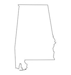 Alabama al state border usa map outline vector