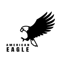 american eagle flying bird logo simbol vector image