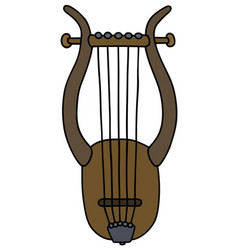 Ancient greek lyre vector