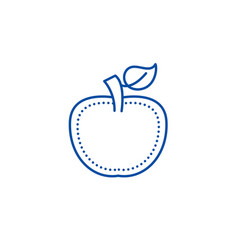 apple line icon concept apple flat symbol vector image