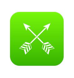 arrows lgbt icon digital green vector image
