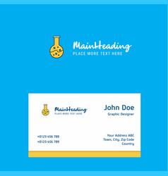 beaker logo design with business card template vector image