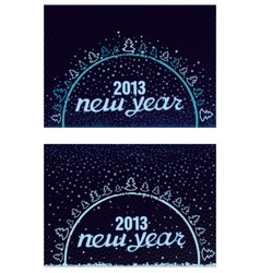 Beautiful inscription Happy New Year in a circle vector image