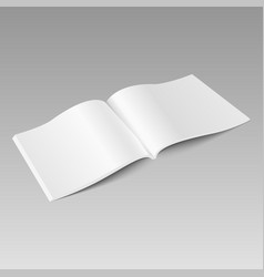 blank open magazine mock up template vector image