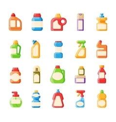 Bottle template blank package container collection vector image
