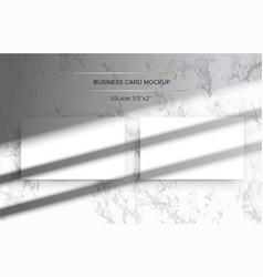 Business card mockup top lighting shadows overlay vector