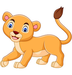 cartoon baby lioness isolated on white background vector image