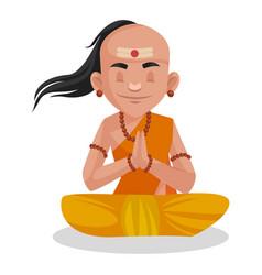 Chanakya cartoon character vector