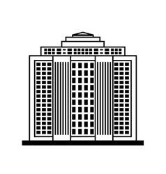 City design Building icon Black and white vector