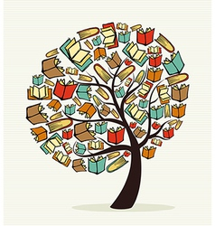 Concept books tree vector image