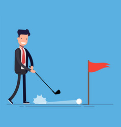 Concept of a good deal businessman or manager vector