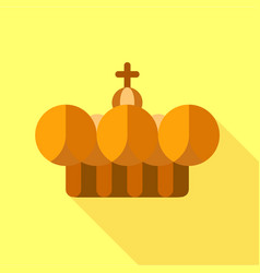 Crown pope icon flat style vector